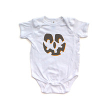 Apericots Scary Halloween Unisex Jack O Lantern Face Cute Baby Fun Bodysuit