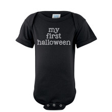 "Apericots ""My First Halloween"" Fun Cute Adorable Unisex Soft Cotton Baby Creeper"
