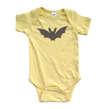 Apericots Fun Eerie Black Bat Halloween Unisex Baby Cute Soft Cotton Creeper
