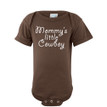 Mommy's Little Cowboy Baby Soft Cotton Country Western Boy Creeper