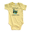 Apericots Cute Holiday Meowy Christmas Pun Xmas Kitty Cat Funny Soft Baby Bodysuit