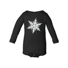 Long Sleeve Baby Bodysuit With Fun Snowflake Winter Design