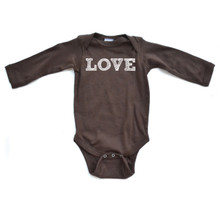 "Apericots Cute Simple ""Love"" Print Festive Holiday Christmas Baby Long Sleeve Romper"
