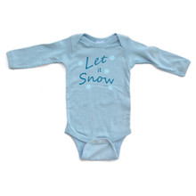Apericots Let it Snow Cute Fun Snowflake Winter Infant Soft Cotton Long Sleeve Bodysuit