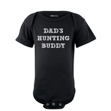 "Apericots ""Dad's Hunting Buddy"" Cute Gender Neutral Infant Baby Short Sleeve Soft Cotton Bodysuit"