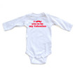 Apericots Funny Valentine's Day I Mustache You to Be My Valentine Cute Baby Long Sleeve Romper