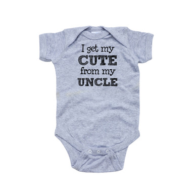 Apericots Funny I Get My Cute From My Uncle Baby Nephew Niece Infant Unisex Bodysuit