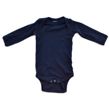 Apericots Plain Blank Ultra Soft Cotton Long Sleeve Baby Infant Bodysuit