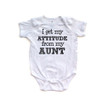 I Get My Attitude From My Aunt Cute Short Sleeve Baby Bodysuit