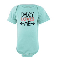 Apericots Daddy Loves Me Cute Short Sleeve Baby Bodysuit