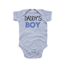 Apericots Daddy's Boy Sweet Short Sleeve Baby Bodysuit