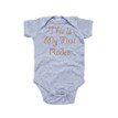 Apericots This Is My First Rodeo Funny Short Sleeve Infant Bodysuit