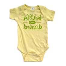 Hilarious Cute Mom is the Bomb Soft Short Sleeve Baby Bodysuit