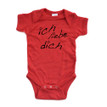 Ich Liebe Dich (German for I Love You) Infant Valentine's Day Bodysuit