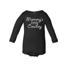 Mommy's Little Cowboy Baby Long Sleeve Country Western Boy Creeper