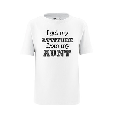 I Get My Attitude From My Aunt Short Sleeve Kids Tee Shirt