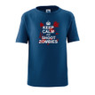 Keep Calm and Shoot Zombies Zombie Killer Toddler Kids Tee