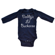 Daddy's Lil Buckaroo Baby Long Sleeve Country Western Bodysuit