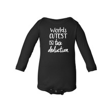 World's Cutest Tax Deduction Funny Long Sleeve Baby Bodysuit