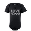 I Love Mommy Cute Short Sleeve Baby Bodysuit