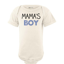 Mama's Boy Cute Short Sleeve Baby Boys Bodysuit