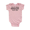 This is What Miracles Look Like Cute Short Sleeve Baby Bodysuit