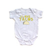 Funny I Love Tacos Short Sleeve Baby Bodysuit With Taco Design