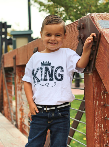 "Apericots ""King"" Design on 100% Certified Organic Cotton Boys Shirt"