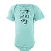 Apericots Cute Just Like Gigi Funny Baby Bodysuit