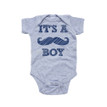 Apericots It's A Boy Mustache Gender Reveal Short Sleeve Boys Infant Bodysuit