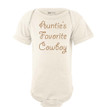Auntie's Favorite Cowboy Country Western Short Sleeve Baby Boys Bodysuit