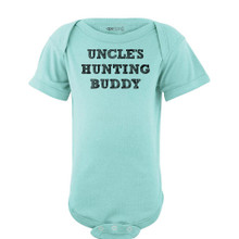 Apericots Uncle's Hunting Buddy Short Sleeve Baby Bodysuit