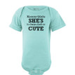 Apericots Mommy Thinks She's in Charge That's So Cute Short Sleeve Baby Bodysuit