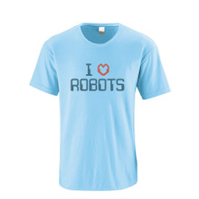 I ❤ Heart Love Robots Adult Tee T-shirt Geeky Humor Quality Cotton