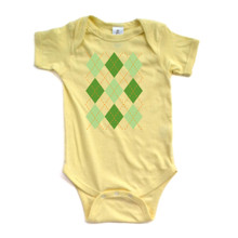 Apericots Cute Argyle Green Irish Paddy Saint Patrick's Adorable Baby Bodysuit