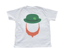 Toddler/Children's T-Shirt  with Leprechaun Beard and Cap - Irish - St. Patrick's Day