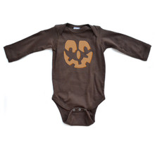 Jack O' Lantern - Halloween Brown Long Sleeve Baby Bodysuit