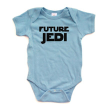 Future Jedi Baby One Piece Bodysuit Star Wars Starwars Inspired Black Print on White, Pink, Yellow, Light Blue, or Red