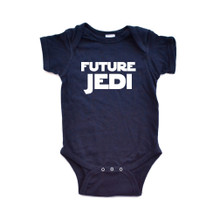 "Adorable ""Future Jedi"" Baby Short Sleeve Cotton Infant Bodysuit"