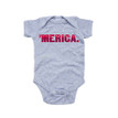 Patriotic Fourth of July Independence Day Baby Merica Bodysuit