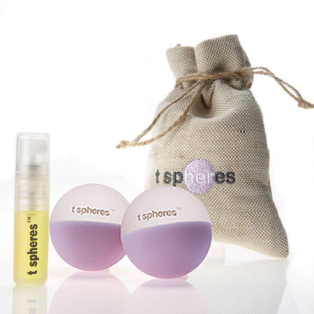 Aromatherapy~infused massage balls, infused with pure lavender essential oil. Great for travel, work, home spa, yoga or fitness.