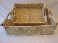 Hand Woven Husk Basket, Large 19x13x6