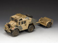 EA085  Desert Quad Gun Tractor & Limber by King and Country