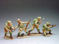 DD037  Flank Attack 4 x 82nd Paratroopers by King & Country (Retired)