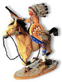 TW05  War Bonnet on Cream Horse by King & Country (Retired)