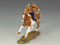 TRW014  Mounted Warrior with Bow and Arrow by King and Country (RETIRED)