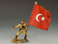 AL019  Turkish Officer with Flag by King and Country (RETIRED)