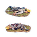 ACW022 Confederate Infantry Dead by First Legion