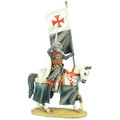 CRU045 Knights Templar Mounted Standard Bearer by First Legion (RETIRED)