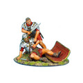 ROM018 Imperial Roman Legionnaire Helping Wounded Vignette by First Legion (RETIRED)